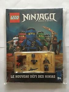 LIVRE JEUX BD LEGO NINJAGO MASTERS OF SPINJITZU + PERSONNAGE COLE NEUF EMBALLE