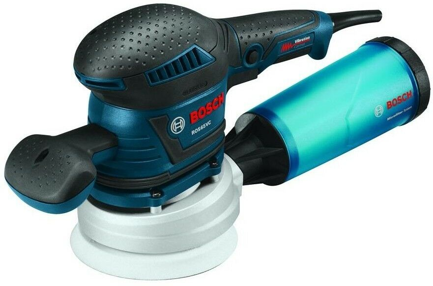 Bosch Random Orbit Sander Polisher Kit Palm 2.5 Amp Corded 5 in Variable Speed