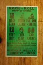 Chuck Berry Tour Poster 1958 W/ Chubby Checker Buddy Holly Chubby Checker Buffal