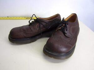 Détails sur Vintage Dr. Doc Martens Made in England en cuir marron à lacets Bottes Homme 9 US 8 UK afficher le titre d'origine