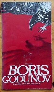 Boris Godunov programme ENO English National Opera 1980 Richard Van Allan