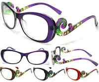 Women's Reading Glasses Swirl Multi Design Frame In 4 Colors