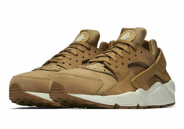 the best attitude f9a61 71b2c Nike Air Huarache Mens 318429-202 Flax Sail Gum Brown Running Shoes Size 10