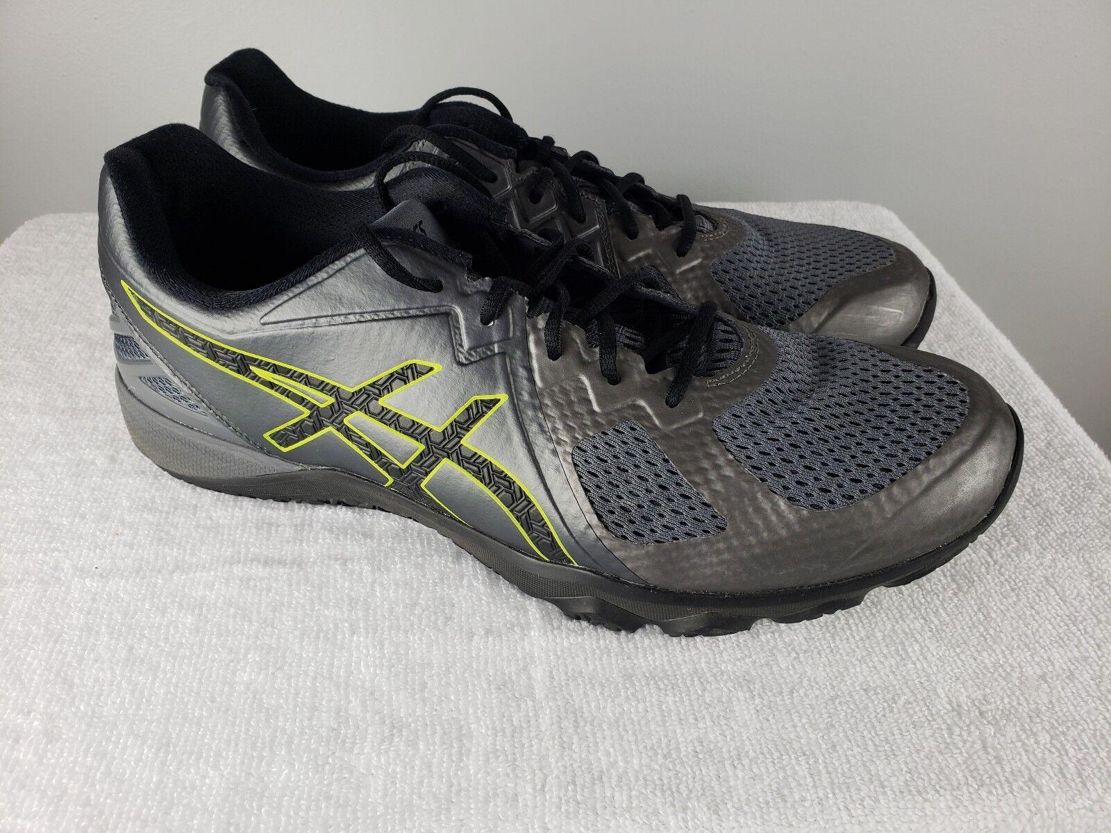 Men's Asics shoes Size 11.5 S703N-9790 Conviction X Carbon Black Training