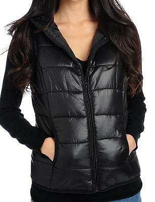 OSO Casuals® Packable Zip Front Hooded Puffer Vest NEW