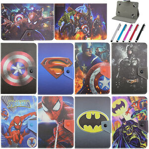 Superhero-Folio-Leather-Cover-Case-For-Samsung-Galaxy-Series-Tablet-PC-Universal