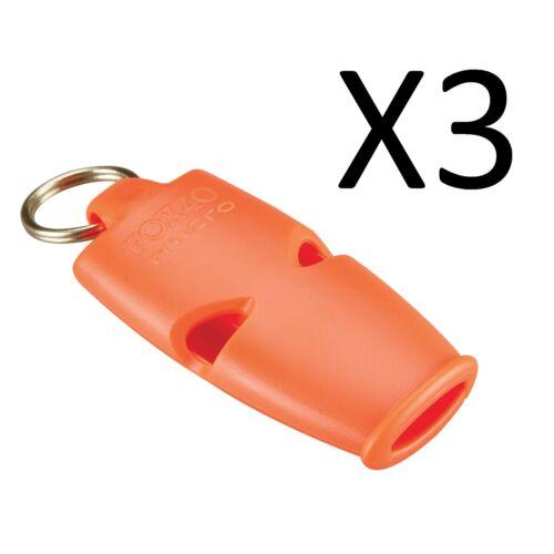 3-pack Fox 40 Micro 3-Chambre pealess Sifflet avec Cordon orange