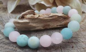 8mm-Amazonite-bracelet-mala-Chakas-Unisex-Handmade-Healing-Wristband