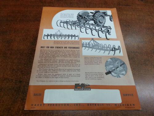 Harry Ferguson Tractor SPRING TOOTH HARROW sales brochure ORIGINAL 1948