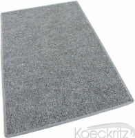 Gray Indoor Outdoor Area Rug Non-skid Marine Backing Carpet Many Sizes