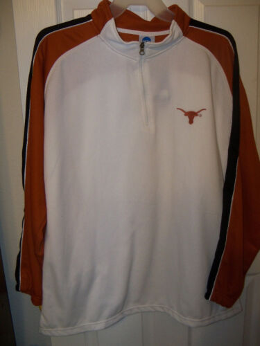 Texas Longhorns Pull Over Warm Up Jacket Mens XL NWT              #52