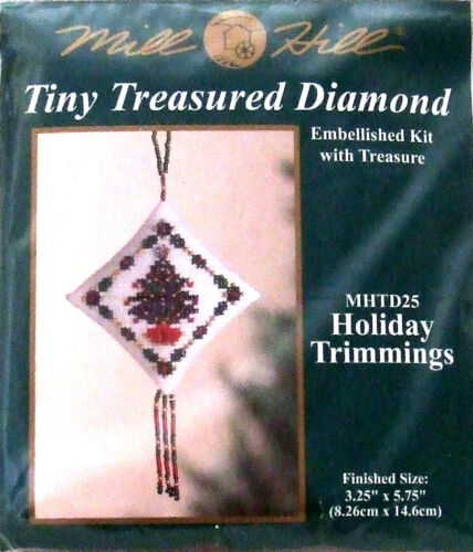 Mill Hill Cross Stitch Bead Kit Christmas /'Holiday Trimmings/' Tree TD25