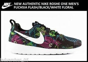 New-Authentic-Nike-Roshe-Run-Men-039-s-size-10-Black-Floral