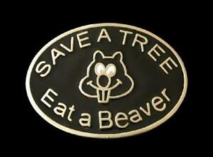 Save-A-Beaver-Eat-A-Tree-Funny-Humor-Belt-Buckle-Buckles