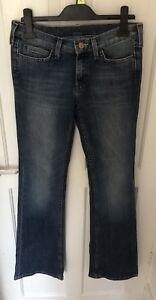 éNergique Femme Bleu Lee Jeans W 27 L 33 Surface LustréE