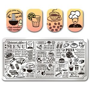 born pretty nail art stamping plate manicure template diy restaurant