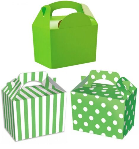 Childrens Lime Green Party Food Boxes ~ Birthday Lunch Snack Bag Plate Gift Box