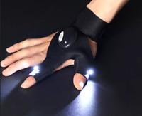 Finger & Thumb Glove W/2 Led Lights Biking Hiking Fishing Work Glove Usa Shipper