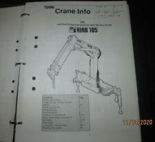 Hiab 105 Crane Instructions For Service Amp Parts Manual Catalog Book 1992