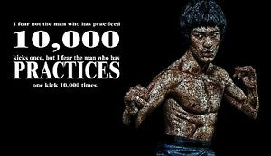 Bruce Lee I Fear Not The Man, Martial Arts Quotes Mini ...