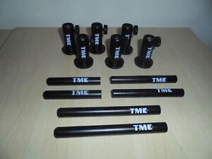 """4 X TMC en aluminium anodisé Stage Stands avec verrouillage écrous avec 4 x 5/"""" Inserts."""