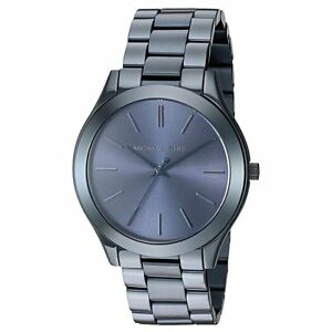e9379f4dea Michael Kors Slim Runway Navy Blue Stainless Steel Analog Quartz Watch -  MK3419