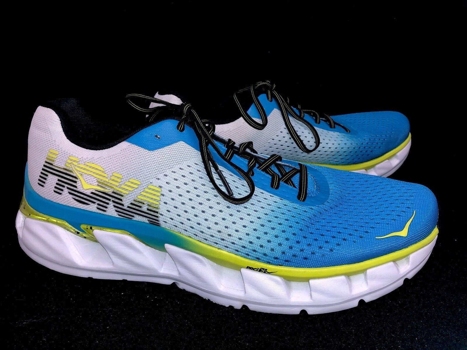 HOKA ONE ONE Elevon Men's running tennis shoes Lace Up Diva Blue / Sulphur