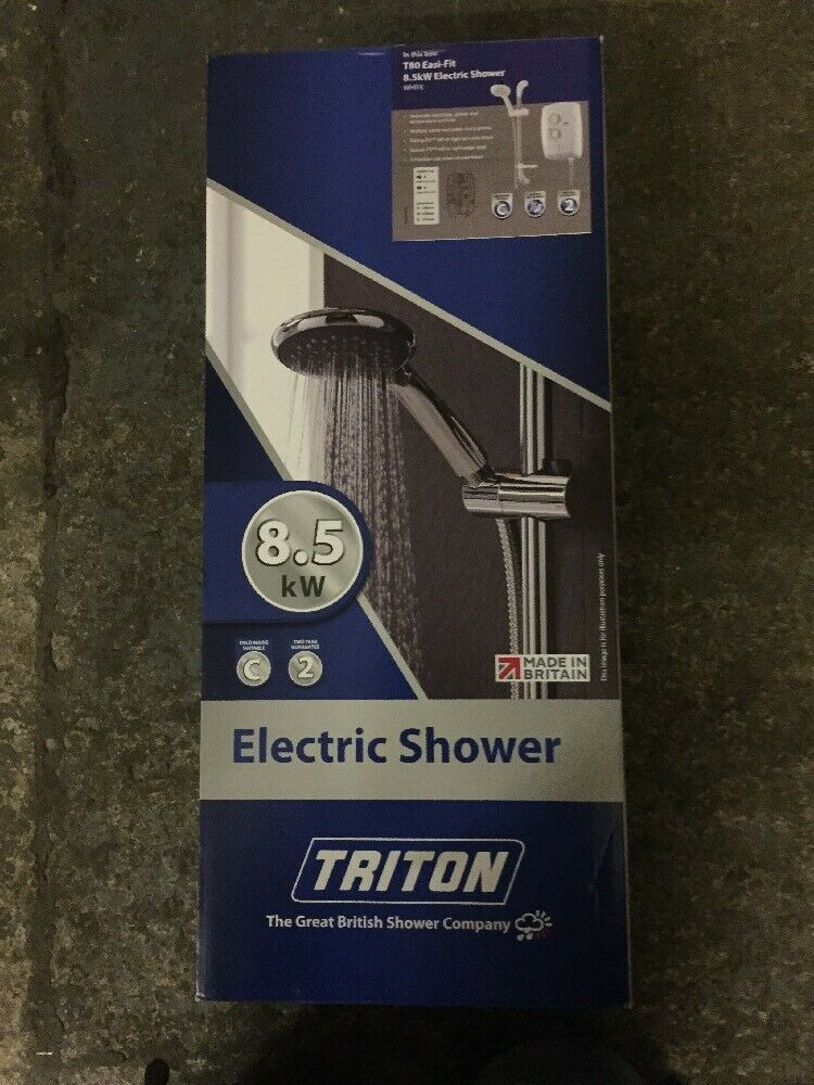 Triton 8.5 kW Ajustement Facile Douche électrique Brand New Boxed