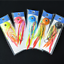 5pk Rould Squid Head Fishing Lure Rubber Skirt Deep Water Bass Lures 40//60//100g