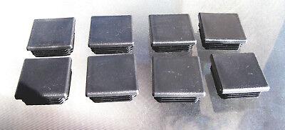 "10-2/"" Square Black Plastic Plug End Cap Fence Post Pipe Tube 2x2 Tubing"