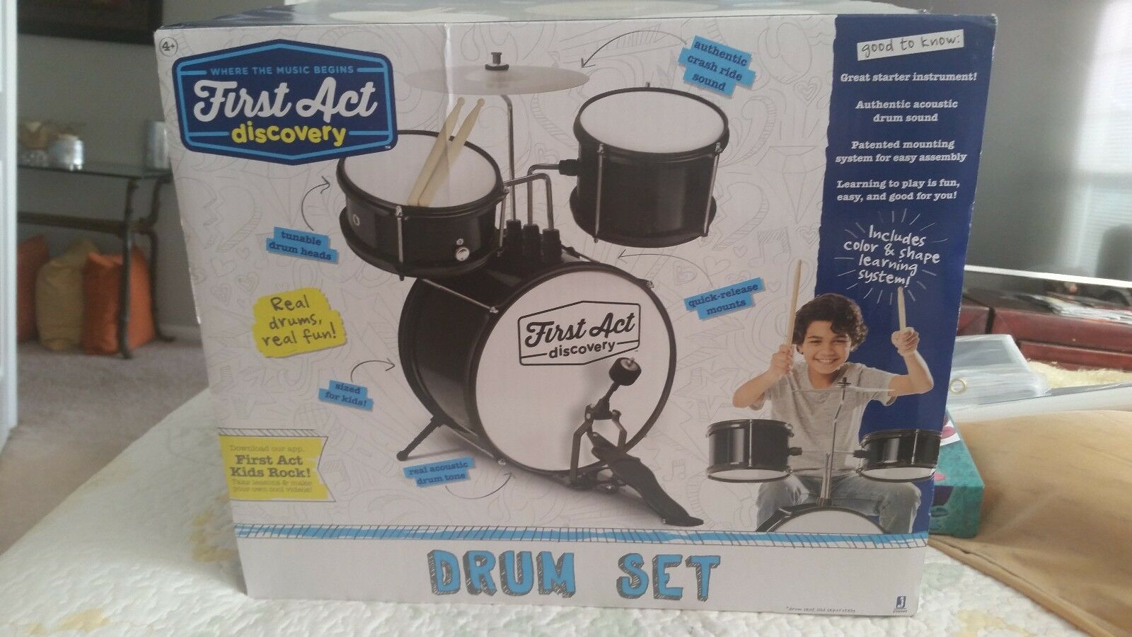 First act discovery drum set play