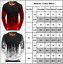 Mens Long Sleeve Crew Neck T-shirt Tie Dye Printed Winter Sports Basic Tee Tops
