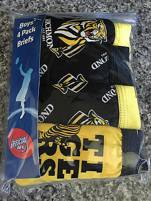 BNIP Boys Sz 4-6 Pack of 4 AFL Collingwood 100/% Cotton Classic Briefs Underpants
