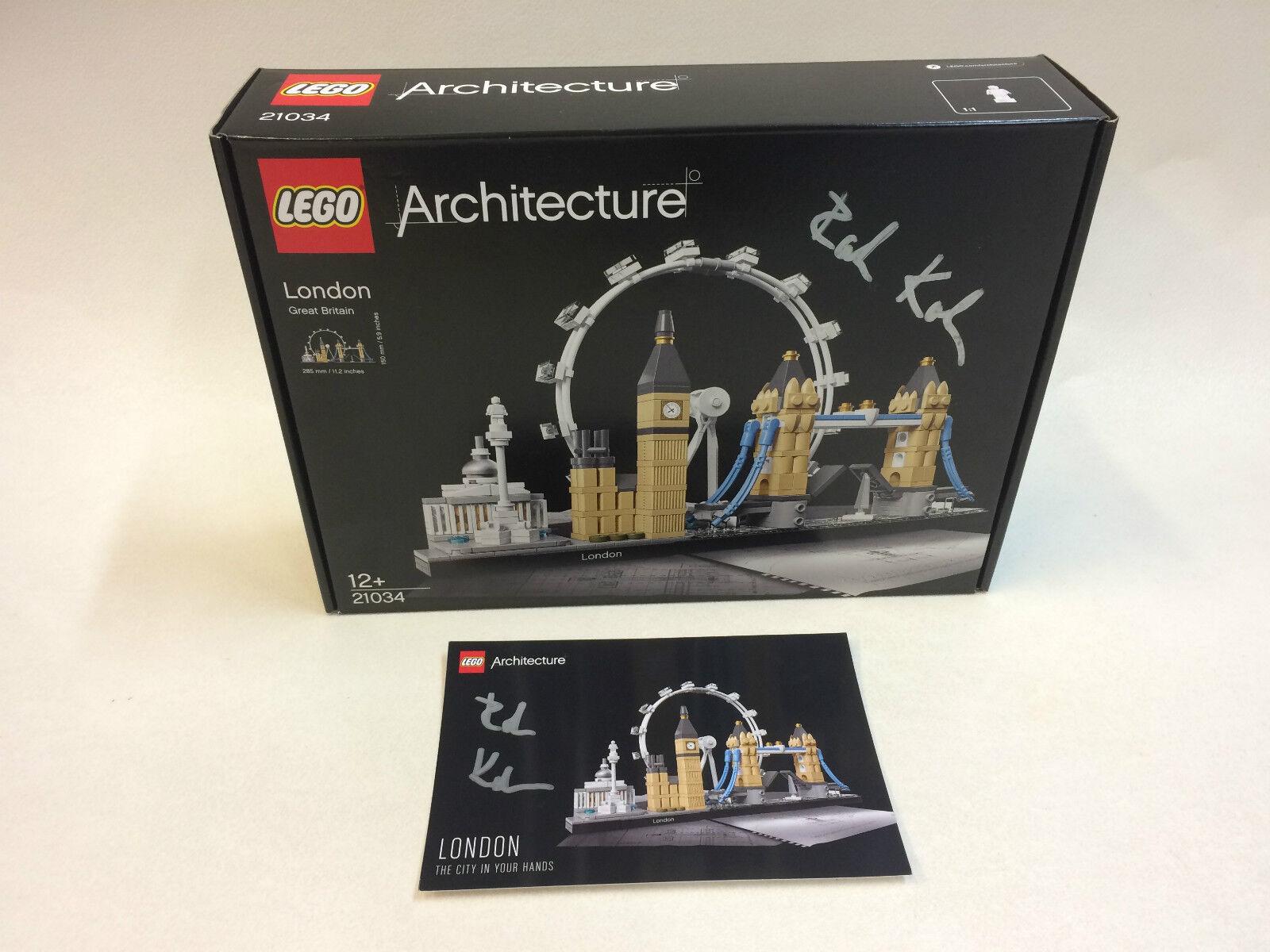 Nuevo LEGO 21034 Arquitectura Londres Skyline firmado por el diseñador rok zgalin Kobe