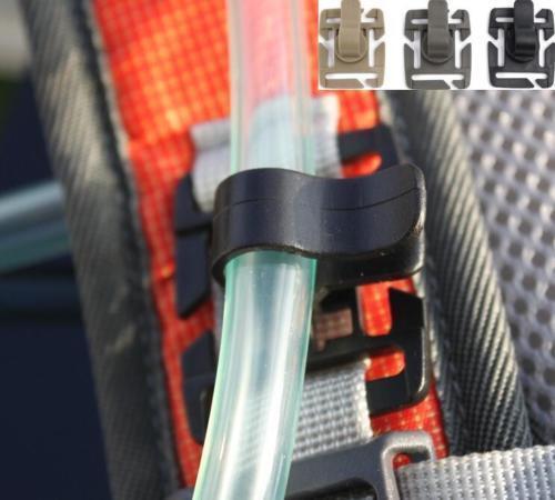 DZ856 hydration water bladder tube trap strap clip camelbak molle drink-green✿