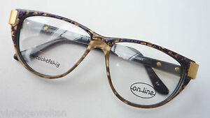 Sonnenbrillen Humorvoll Vintagegestell Brillenfassung Damen Brille Butterfly Dunkel Marmoriert Grösse L