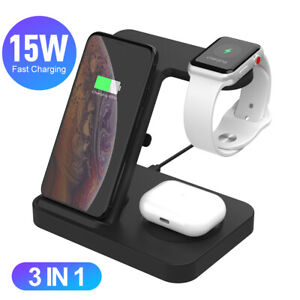 3 in 1 Charging Dock Charger Stand For Apple Watch Series For iPhone 11 Pro Max