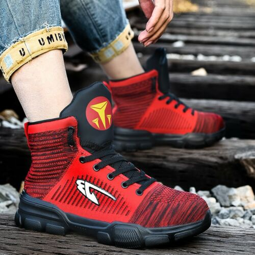 Men/'s Women/'s Safety Shoes Steel Toe Work Boots Indestructible High Top Sneakers