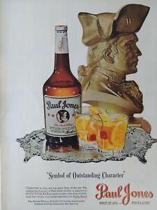 Paul Jones Whiskey Original Color Print Ad Advertisement 1947 Liquor Alcohol
