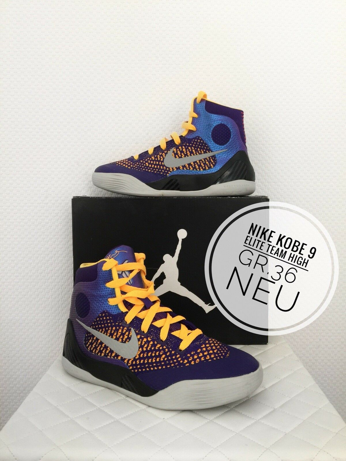 19f3a9ef07a4 kobe bryant Sneaker Nike Kobe IX Elite GS GS GS 36 Kids Women NBA La Lakers
