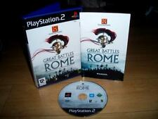 The History Channel Great Battles of Rome - Sony PS2 UK PAL video game complete
