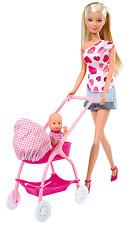 New Simba 29cm Steffi Love Happy New Born Baby Crib Play Set Accessories Doll