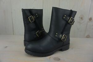 8ae38ceb3aa Details about UGG NIELS BLACK LEATHER WATER RESISTANT MOTO BOOTS WOMENS US  9.5 NIB