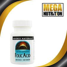 Source Naturals Folic Acid 800 Mcg 200 Tablets
