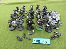 Warhammer 40K Space Marine army lot - 20 partially painted Tactical Troops dd