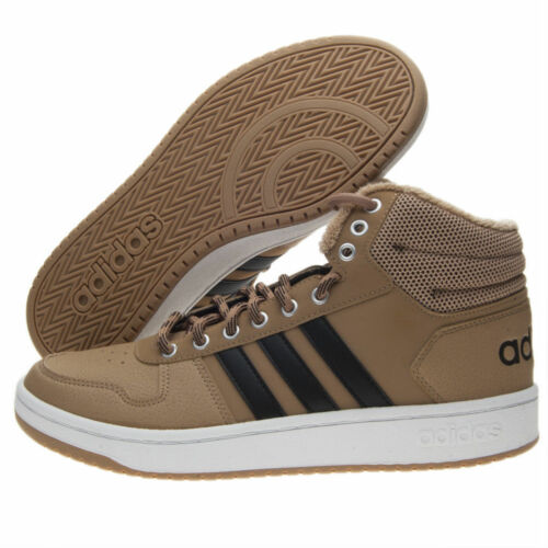 2 Heels Adidas Unisex B44620 Hoops 0 Shoes Original Beige Medium High 8wwp6ETq
