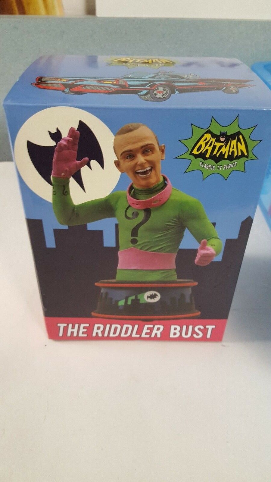 DC Batman '66 THE RIDDLER Bust Approx 6  Diamond Select New Open with Box