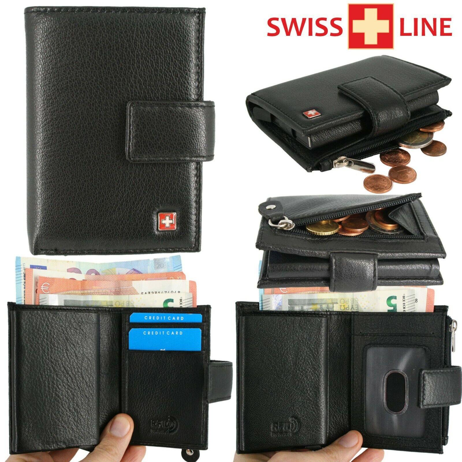 ✙ Swiss Line ✙ Card Holder Purse Slim Wallet Cardholder RFID Unisex