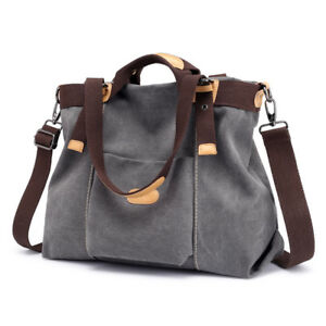 b7c4ee2ebc Image is loading Ladies-Vintage-Handbag-Casual-Canvas-Crossbody-Shoulder- Bags-