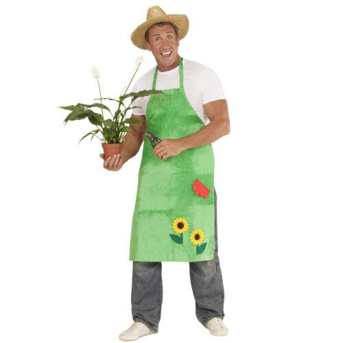 Gartenschürze mit Sonnenblumen Kittel Schürze Fasching Kostüm Gärtner Zubehör